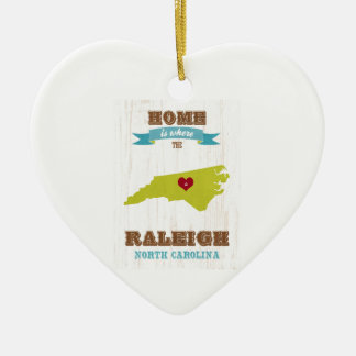 Raleigh, North Carolina Map – Home Is Where The Christmas Ornament