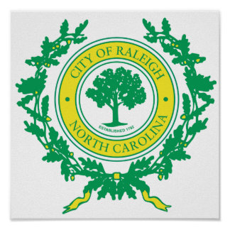 Raleigh, North Carolina Seal Poster
