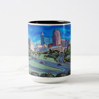 Raleigh Skyline Two-Tone Coffee Mug