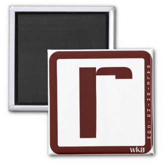 Raleighing Square Magnet