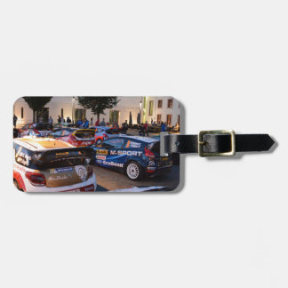 Rally Cars Luggage Tag