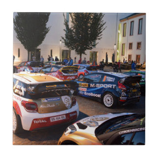 Rally Cars Small Square Tile