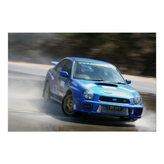 Rally drift race car poster