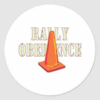 Rally Obedience Classic Round Sticker