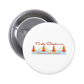 Rally Obedience, Dances with Cones 6 Cm Round Badge