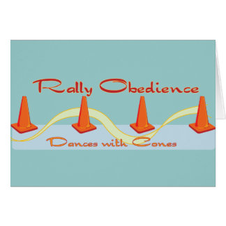 Rally Obedience, Dances with Cones Greeting Card