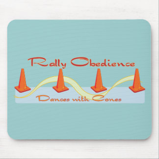 Rally Obedience Dances with Cones Mouse Pads