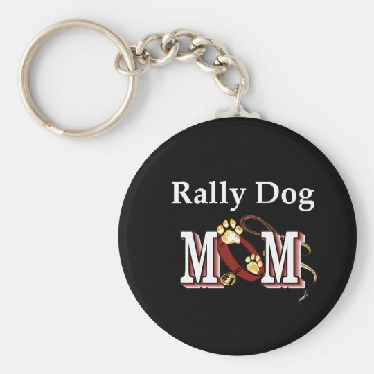 Rally Obedience Dog Mum Gifts Basic Round Button Key Ring