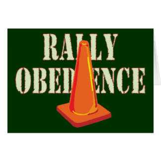 Rally Obedience Greeting Card