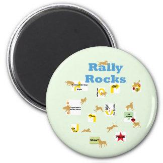 Rally Rocks 6 Cm Round Magnet
