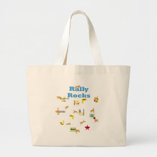 Rally Rocks Large Tote Bag