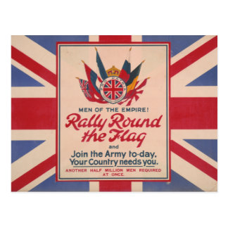 Rally Round the Flag postcard