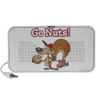 rally squirrel go nuts baseball cartoon notebook speakers