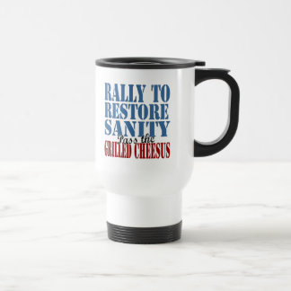 Rally To Restore Sanity Grilled Cheesus Mugs