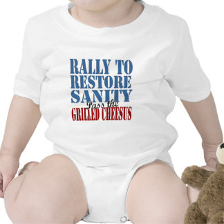 Rally To Restore Sanity Grilled Cheesus T Shirts