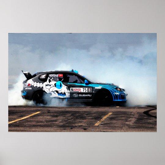 Rally USA Subaru STi Drifting Poster