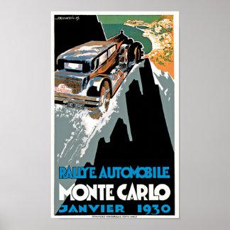 Rallye Automobile Monte Carlo Poster