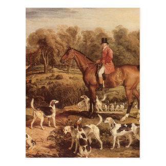 Ralph Lambton and his Hounds by James Ward Postcard