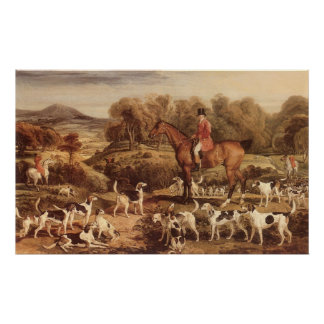 Ralph Lambton and his Hounds by James Ward Posters