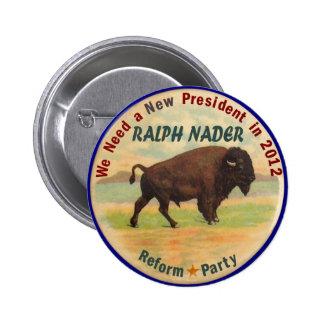 Ralph Nader 2012 6 Cm Round Badge