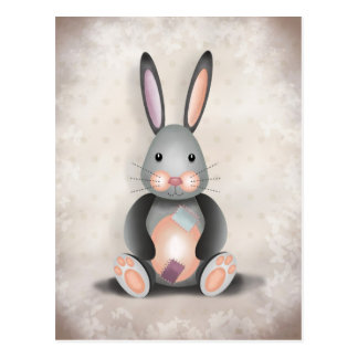 Ralph the Patchwork Rabbit - Postcard