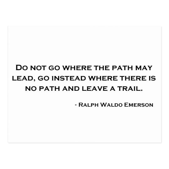 Ralph Waldo Emerson Innovation Quote Postcard