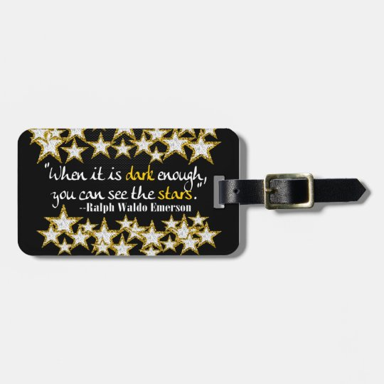 Ralph Waldo Emerson Inspirational Life Quotes Gift Luggage