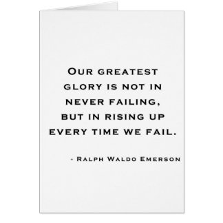 Ralph Waldo Emerson - Motivation Quote Card