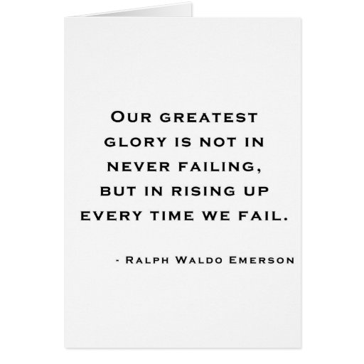 Ralph Waldo Emerson - Motivation Quote Greeting Cards