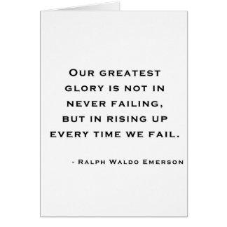Ralph Waldo Emerson - Motivation Quote Greeting Card