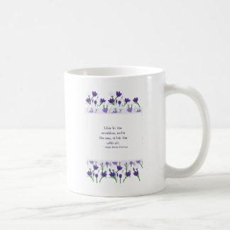 Ralph Waldo Emerson Quote- Spring Crocus Flowers Mugs