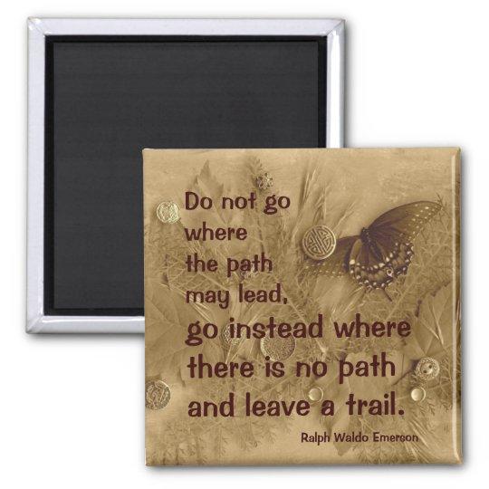Ralph Waldo Emerson quote Square Magnet