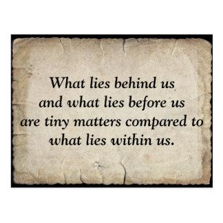 Ralph Waldo Emerson s quote on life Wenskaarten