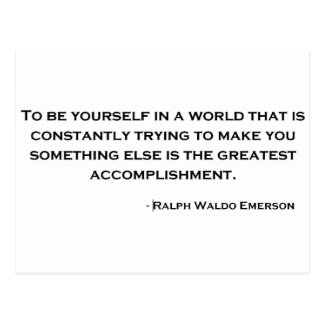 Ralph Waldo Emerson Wise Quote Postcard