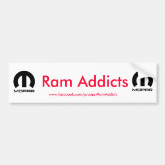 Ram Addicts Bumper Stickers