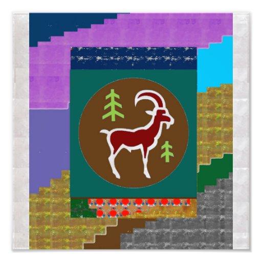 RAM ANIMAL WILD SYMBOL ZODIAC ASTROLOGY PHOTO PRINT