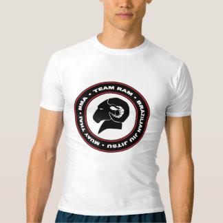 RAM Compression Top/Rash Guard, Black and Red Logo T-Shirt