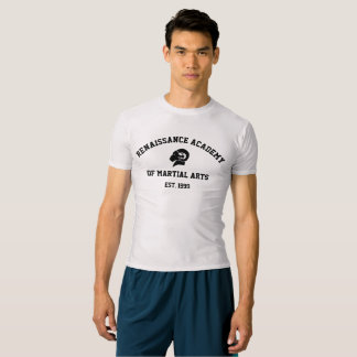 RAM Compression Top/Rash Guard, Silver Grey Retro T-Shirt