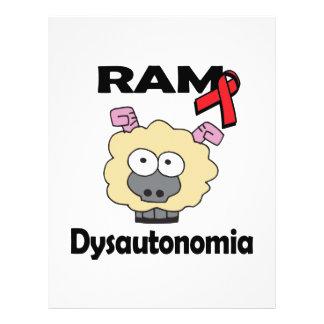 RAM Dysautonomia (red) 21.5 Cm X 28 Cm Flyer