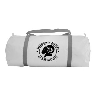 RAM Gym Bag, Solid Black Logo Gym Bag