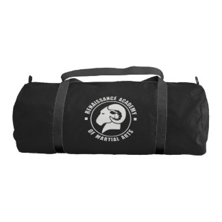 RAM Gym Bag, Solid White Logo Gym Bag