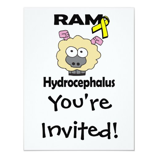 RAM Hydrocephalus 11 Cm X 14 Cm Invitation Card