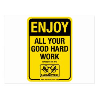 RAM Industrial: Enjoy all your good hard work Postcard
