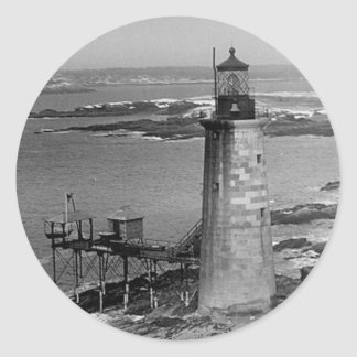 Ram Island Ledge Lighthouse Round Stickers
