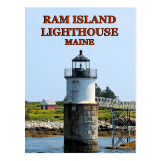 Ram Island Lighthouse, Maine Postcard