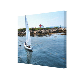 Ram Island Lighthouse, Maine Wrapped Canvas Print