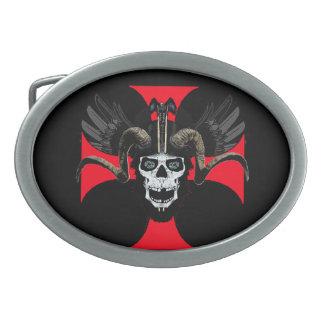 Ram skull 3 tw belt buckles