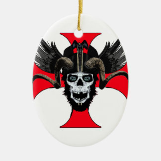 Ram skull 3 tw christmas ornament