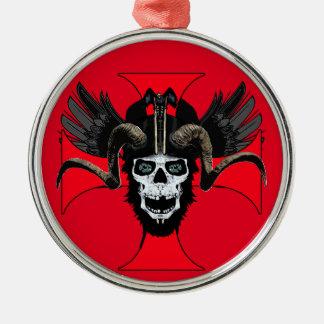 Ram skull 3 tw christmas ornament