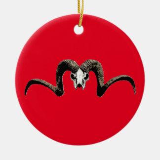 Ram skull christmas ornament